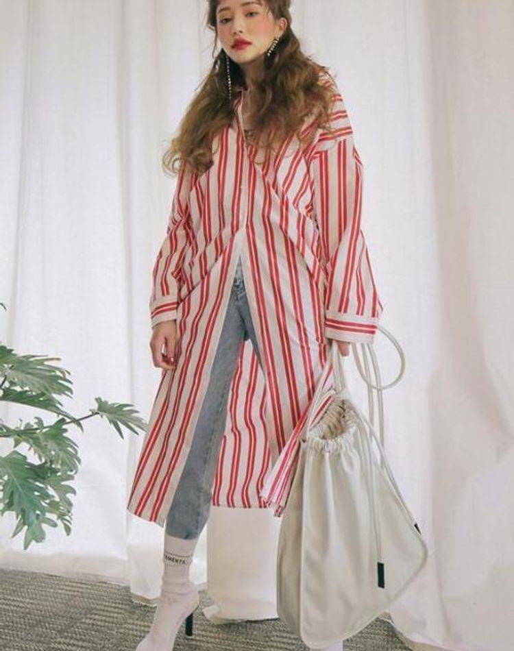 ロングシャツのコーデ術!柄やカラー別の着こなしをご紹介