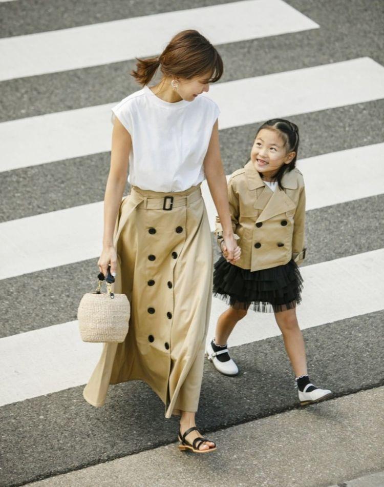 子育てママのスカートコーデ!丈やデザインの選び方や季節別コーデ