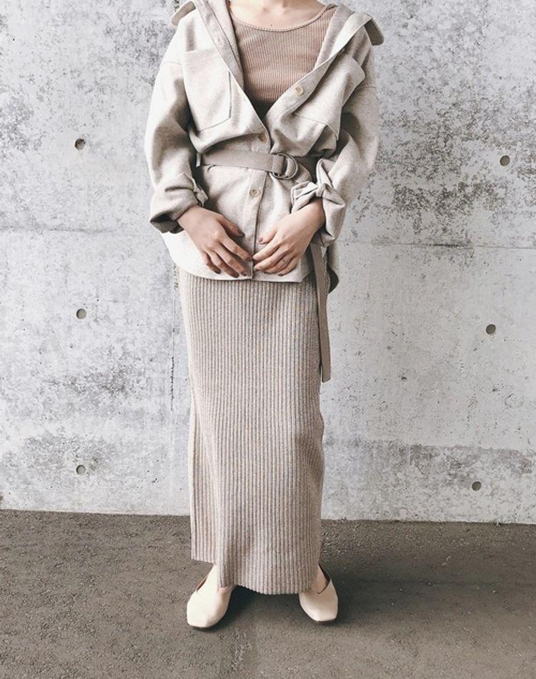 スカート&ベルトのコーデ術!ベルトの付け方や結び方、丈別コーデ