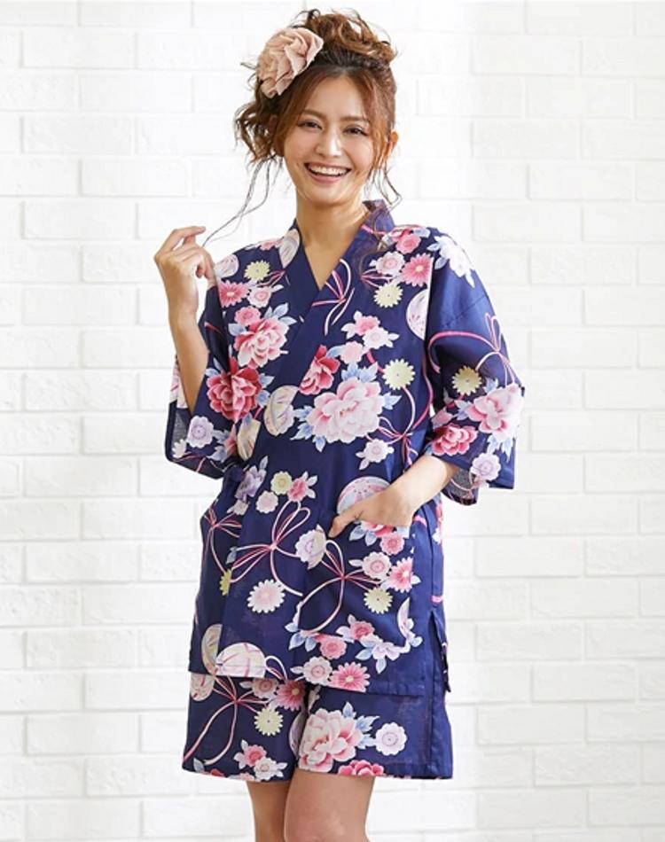 甚平のレディースコーデ9選!オトナ女子の夏祭りファッションとは