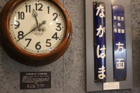 明治時代に使われていた長浜駅の看板