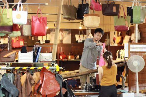 豊岡出石で作る鞄づくり体験あなた好みの世界に1つだけの鞄に出会う