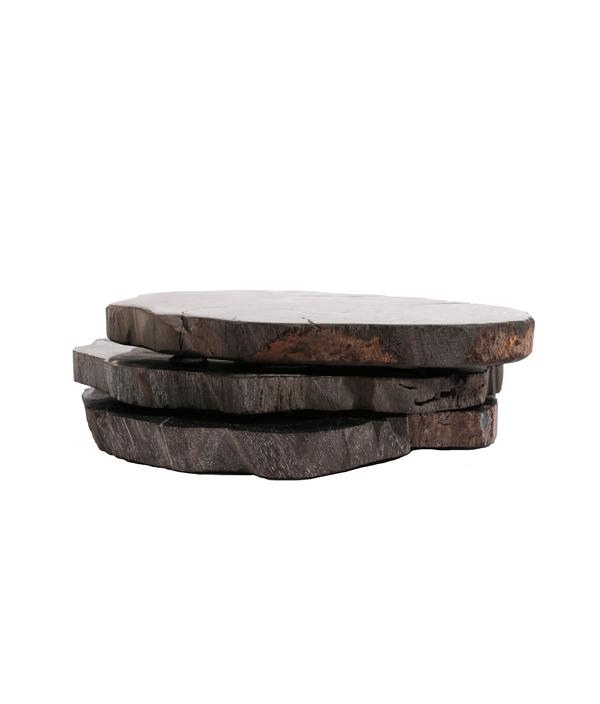 Wood Coaster<Black>