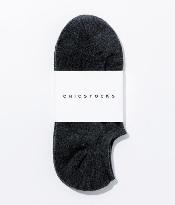 WOOL SNEAKER SOCKS / L / CHARCOAL