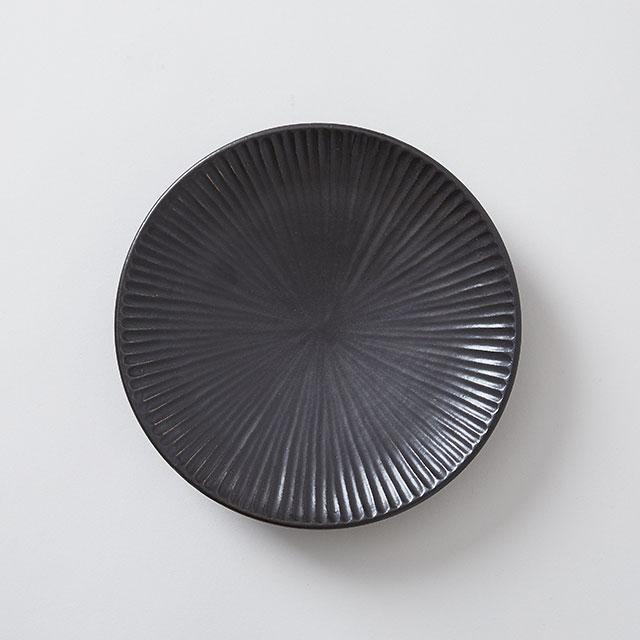 向山窯×TODAY'S SPECIAL SHINOGI 6寸皿 黒田釉