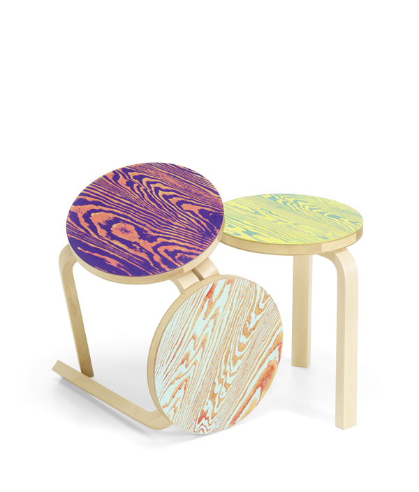 Stool 60 ColoRing / Red×Turquoise
