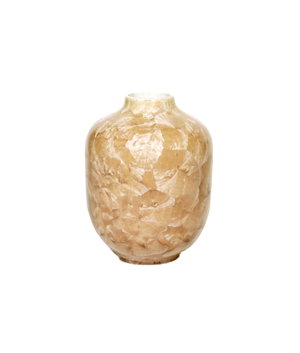 CRYSTALLINE Vase VOLUME1 Beige /Milan Pekar