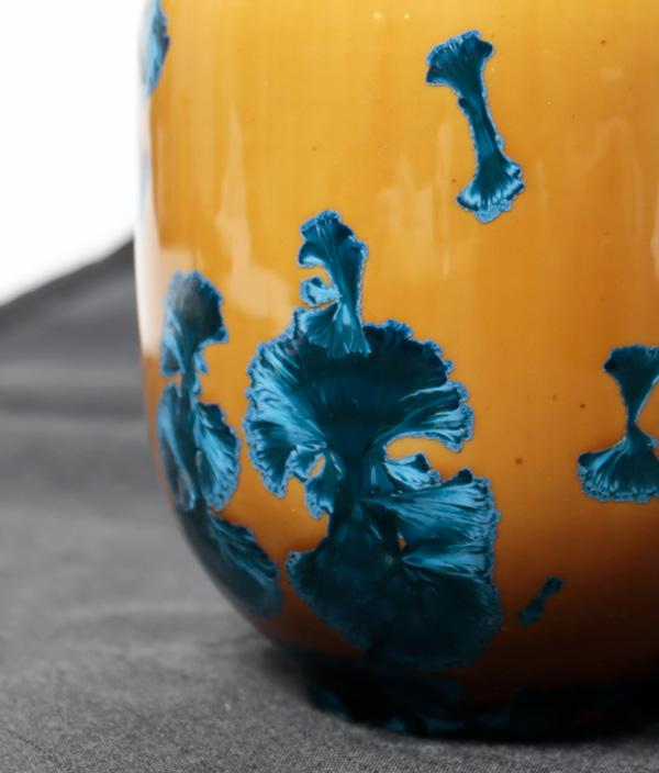 CRYSTALLINE VASE Small  Mustard x Blue /Milan Pekar