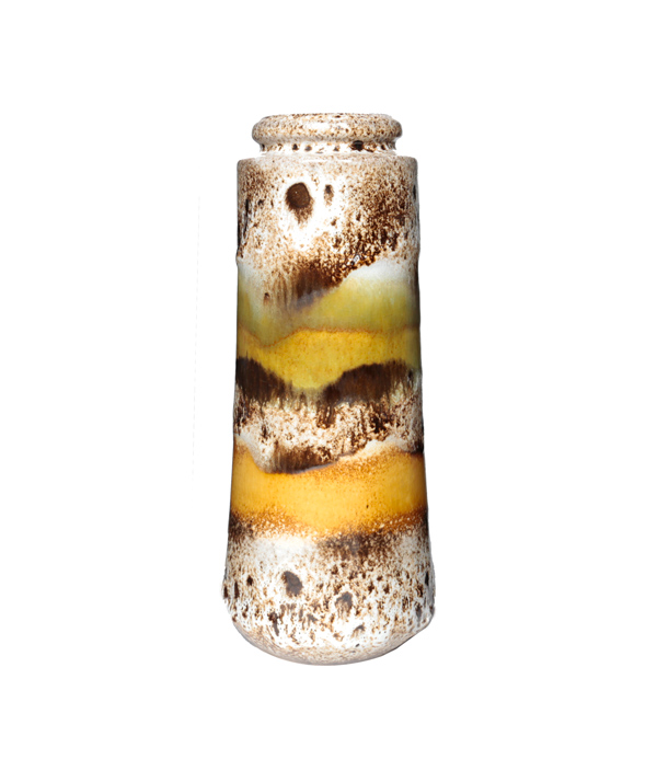 Vintage vase B White x yellow /FAT LAVA