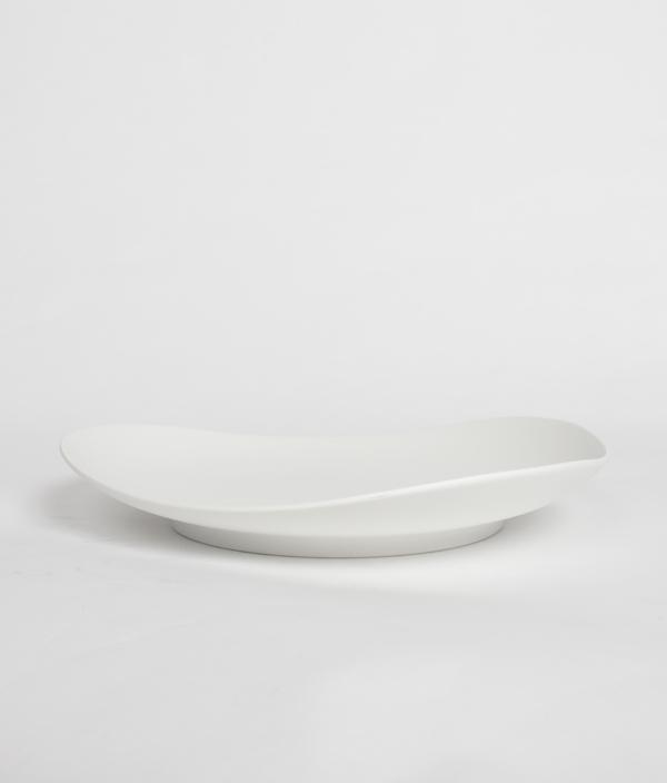 SHIONARI plate 245mm White /yumiko iihoshi porcelain
