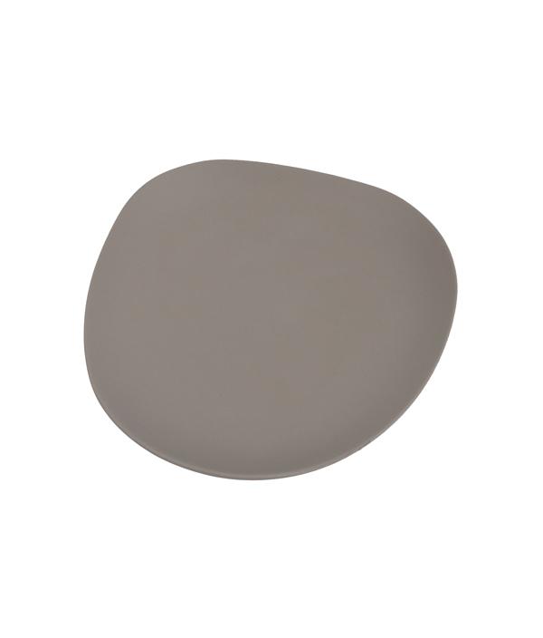 SHIONARI plate 245mm Gray /yumiko iihoshi porcelain