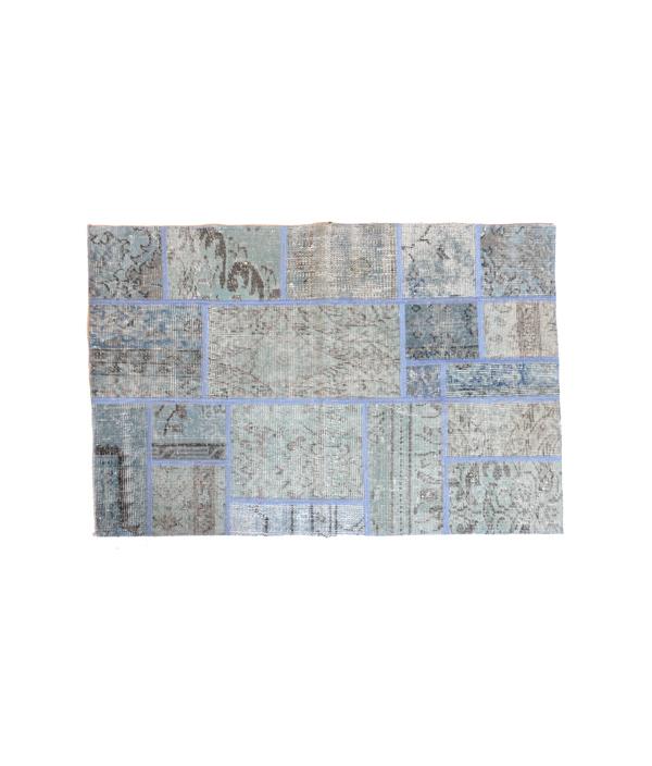 コラージュラグ Bluegreen 120x80