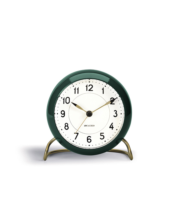 Arne Jacobsen Table clock / Green