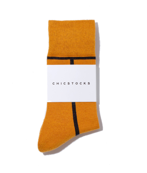 LINE SOCKS /S /Mustard×DarkNavy /CHICSTOCKS