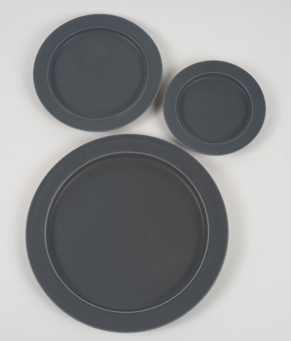 unjour plate rainy gray /L(matin) /yumiko iihoshi porcelain