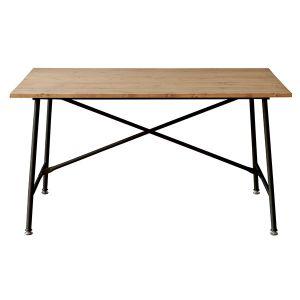 【オンライン限定】メイス ダイニングテーブル 130 ブラック×ナチュラル
