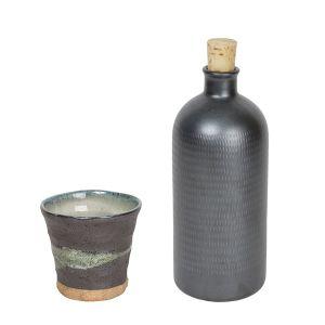 【オンラインストア限定】焼酎ボトル&カップ 黒 セット