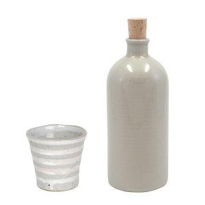【オンラインストア限定】焼酎ボトル&カップ 白 セット