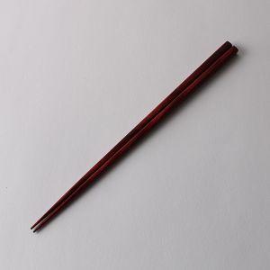 樺の木 先細箸 朱面 23cm