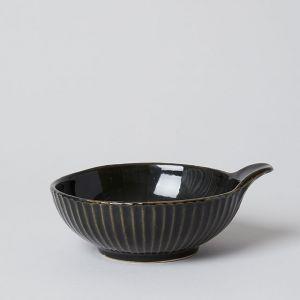 有田焼のとんすい 黒