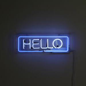 "NEON WORD ""HELLO"""
