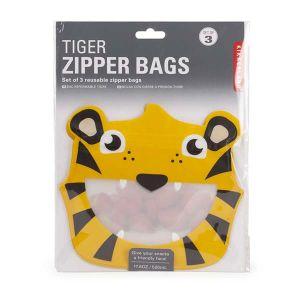 ジッパーバッグ 3枚セット タイガー