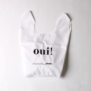 刺繍ナイロンショップバッグ oui!