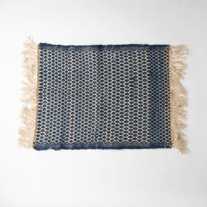 Knit Dobby コーナーマット 45×60 ネイビー
