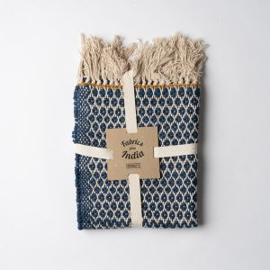 Knit Dobby ハーフラグ 90×130 ネイビー