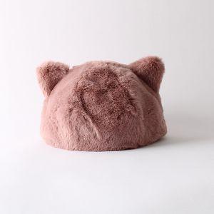 ねこみみ ファーハット ピンク