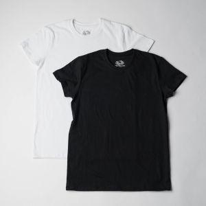 FRUIT OF THE LOOM Tシャツ2Pセット M ホワイト×ブラック
