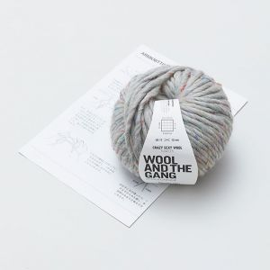 ARM KNITTING KIT スヌード ・ グレー / WOOL AND THE GANG