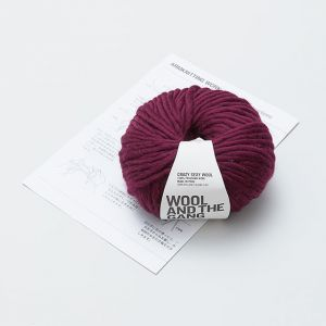 ARM KNITTING KIT スヌード ・ レッド / WOOL AND THE GANG