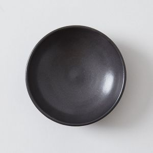 向山窯×TODAY'S SPECIAL KOZARA 3.5寸皿 黒田釉 黒