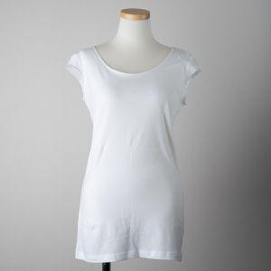 B&H co.フレンチスリーブTシャツ ホワイト