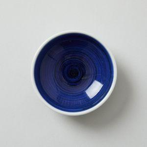 梅山窯 砥部焼の豆皿 呉須巻