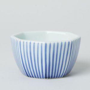 八角鉢 十草 / 梅山窯