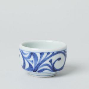 豆鉢 唐草 / 梅山窯