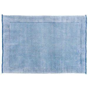 BLOCCO/ブロッコ ラグ 90×130 ブルー