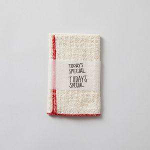 がら紡のふきん 赤 / 木玉毛織 × TODAY'S SPECIAL