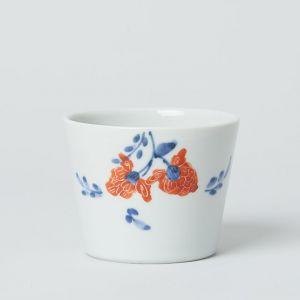 猪口 赤絵牡丹 / 九谷青窯 ・ 高原 真由美