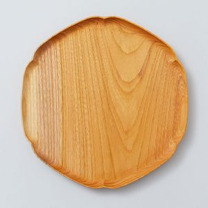 雪輪盆 中 ケヤキ KITO-四十沢木材工芸