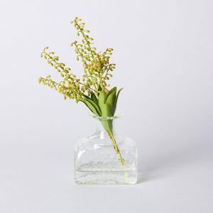 くるみ野の花こびん 長角 ダイヤ / ガラス工房 橙