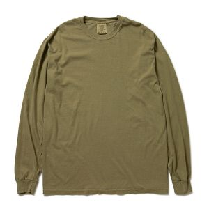 Comfort Colors アダルトリングスパン ロングスリーブTシャツ S カーキ