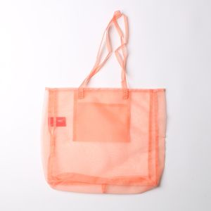 """ORGANDY """"A HIKE"""" TOTE / オーガンジートートバッグ オレンジ"""