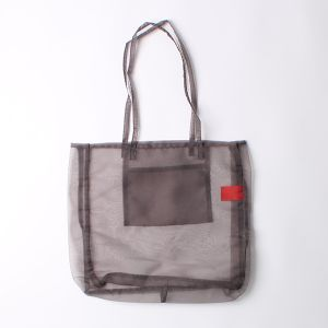 """ORGANDY """"A HIKE"""" TOTE / オーガンジートートバッグ グレー"""