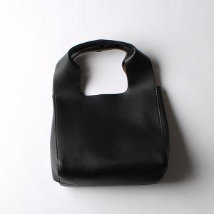 PU マーケットバッグ ブラック