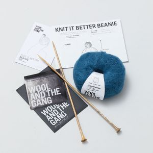 キット|モヘアニット帽|ブルー WOOL AND THE GANG/ウール アンド ザ ギャング