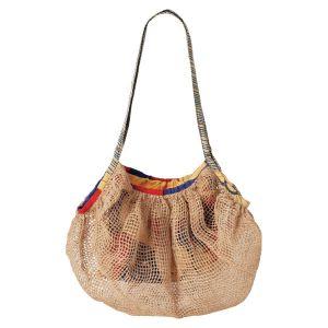 手編みジュート折り畳みバッグ