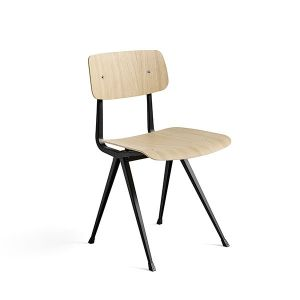 RESULT CHAIR BLACK POWDER COATED STEEL - MATT